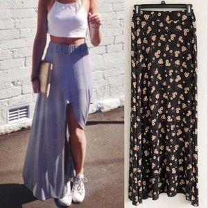 Brandy Melville USA Giuliana Floral Maxi Skirt